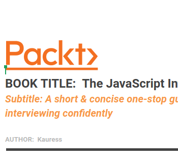 Packt JavaScript Interview Guide